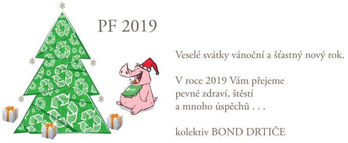 Veselé svátky vánoční a štastý nový rok 2019 BOND DRTIČE
