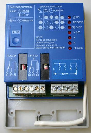 Bezdrátový spínač ovládání - přijímač Rx2 PŘ.2.K.230V