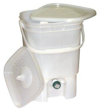 BOKASHI kuchyňský kompostér s EM účinkem - bílý transparentní