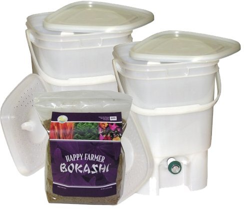BOKASHI kompostér startovací balení - 2ks BOKASHI+1kg EM granule