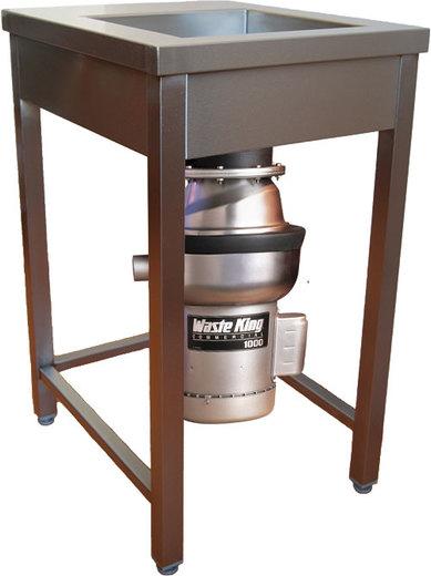 AKČNÍ Nerezový pracovní stůl a drtič odpadu WKC PROFI 1000