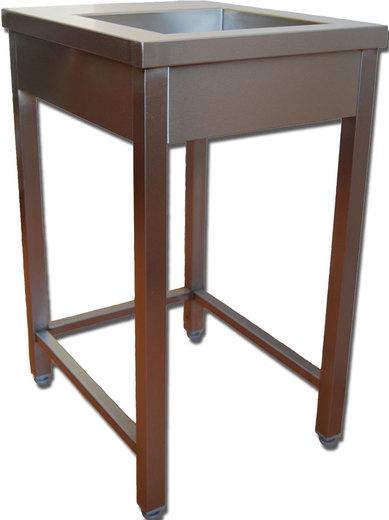 Pracovní stůl nerezový univerzál s dřezem pro drtiče gastro