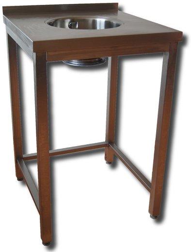 Pracovní stůl nerezový s dřezovou miskou pro PROFI drtiče gastro